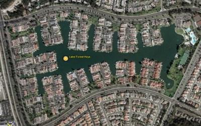 Aerial View of Lake Forest Keys Neighborhood